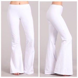 Pants - White Mineral Wash Bell Bottoms